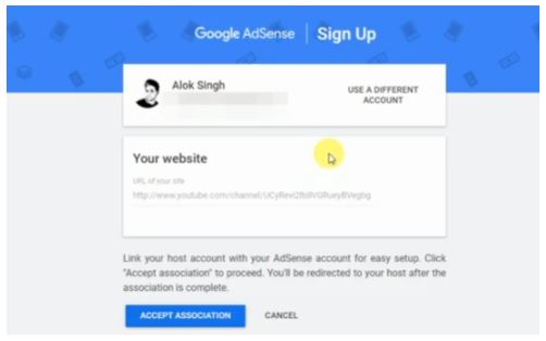 How to link Adsense account to youtube